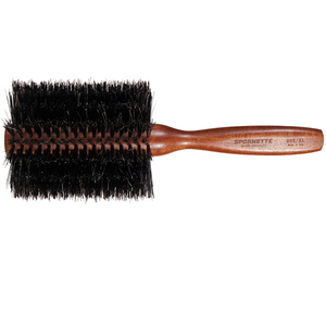 "Spornette Italian Round Boar Bristle Brush - 3"" Double Density Boar Bristles (4204)"