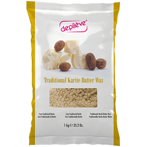 Depileve Traditional Karite Shea Butter Wax - Stripless Extra Film Wax Beads 17.6 oz. (5404)