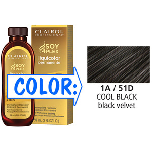Clairol Professional Liquicolor Permanente - 1A51D Cool Black 2 oz. (8851)