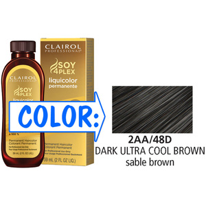Clairol Professional Liquicolor Permanente - 2AA48D Dark Ultra Cool Brown 2 oz. (8848)