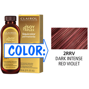Clairol Professional Liquicolor Permanente - 2RRV Dark Intense Red Violet 2 oz. (8818)