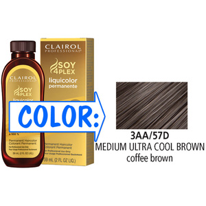 Clairol Professional Liquicolor Permanente - 3AA57D Medium Ultra Cool Brown 2 oz. (8857)