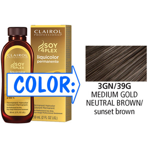 Clairol Professional Liquicolor Permanente - 3GN39G Medium Gold Neutral Brown 2 oz. (8839)