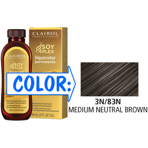 Clairol Professional Liquicolor Permanente - 3N83N Medium Neutral Brown 2 oz. (8883)
