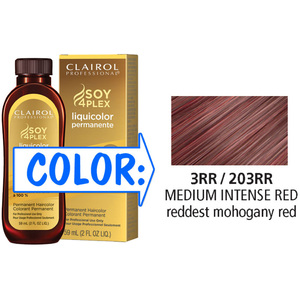 Clairol Professional Liquicolor Permanente - 3RR203RR Medium Intense Red 2 oz. (8865)
