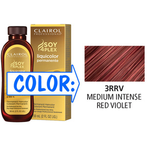 Clairol Professional Liquicolor Permanente - 3RRV Medium Intense Red Violet 2 oz. (8815)