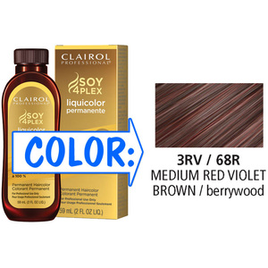 Clairol Professional Liquicolor Permanente - 3RV68R Medium Red Violet Brown 2 oz. (8868)