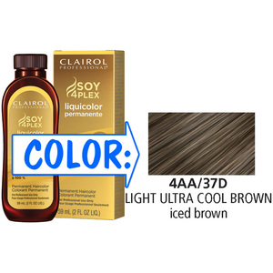 Clairol Professional Liquicolor Permanente - 4AA37D Light Ultra Cool Brown 2 oz. (8837)