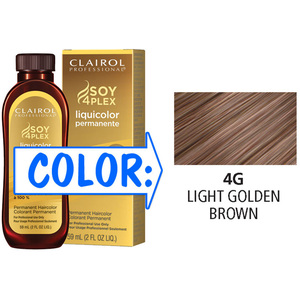 Clairol Professional Liquicolor Permanente - 4G Light Golden Brown 2 oz. (8817)