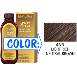 Clairol Professional Liquicolor Permanente - 4NN Light Rich Neutral Brown 2 oz. (8880)
