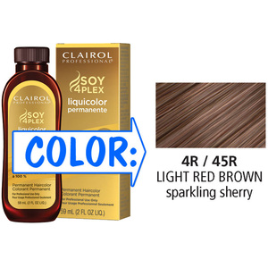 Clairol Professional Liquicolor Permanente - 4R45R Light Red Brown 2 oz. (8845)