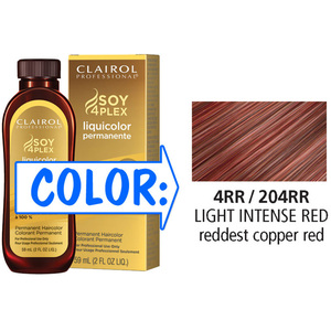 Clairol Professional Liquicolor Permanente - 4RR204RR Light Intense Red 2 oz. (8866)