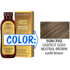 Clairol Professional Liquicolor Permanente - 5GN35G Lightest Gold Neutral Brown 2 oz. (8835)