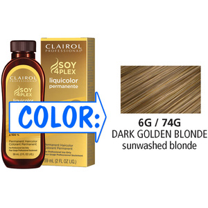 Clairol Professional Liquicolor Permanente - 6G74G Dark Golden Blonde 2 oz. (8874)