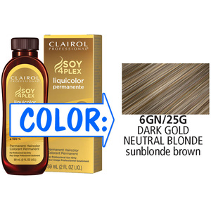 Clairol Professional Liquicolor Permanente - 6GN25G Dark Gold Neutral Blonde 2 oz. (8825)