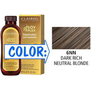 Clairol Professional Liquicolor Permanente - 6NN Dark Rich Neutral Blonde 2 oz. (8890)