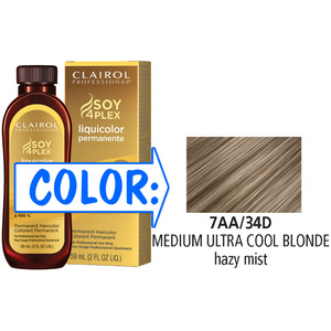 Clairol Professional Liquicolor Permanente - 7AA34D Medium Ultra Cool Blonde 2 oz. (8834)