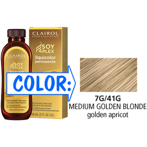 Clairol Professional Liquicolor Permanente - 7G41G Medium Golden Blonde 2 oz. (8841)