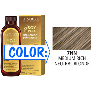 Clairol Professional Liquicolor Permanente - 7NN Medium Rich Neutral Blonde 2 oz. (8891)