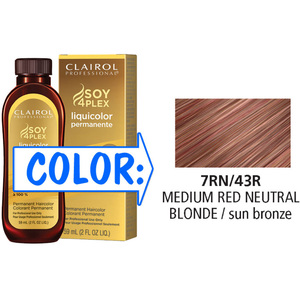 Clairol Professional Liquicolor Permanente - 7RN43R Medium Red Neutral Blonde 2 oz. (8843)