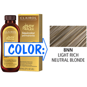 Clairol Professional Liquicolor Permanente - 8NN Light Rich Neutral Blonde 2 oz. (8892)