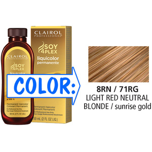 Clairol Professional Liquicolor Permanente - 8RN71RG Light Red Neutral Blonde 2 oz. (8871)