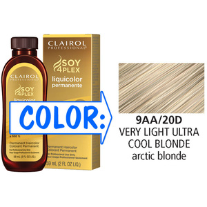 Clairol Professional Liquicolor Permanente - 9AA20D Very Light Ultra Cool Blonde 2 oz. (8820)