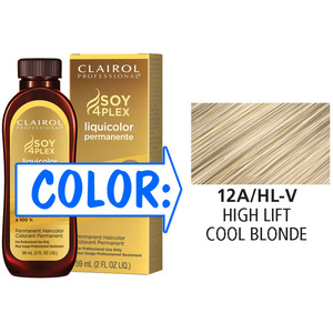 Clairol Professional Liquicolor Permanente - 12AHL-V High Lift Cool Blonde 2 oz. (8805)