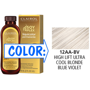 Clairol Professional Liquicolor Permanente - 12AA-BV High Lift Ultra Cool Blonde Blue-Violet 2 oz. (8801)
