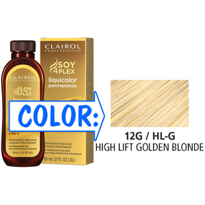 Clairol Professional Liquicolor Permanente - 12GHL-G High Lift Golden Blonde 2 oz. (8803)