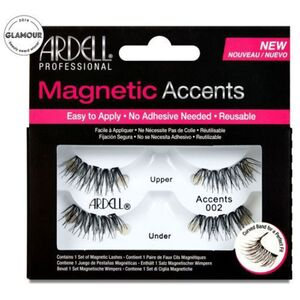 Ardell Magnetic Strip Lashes - Magnetic Accent 002 - Fuller Accent Lash With Wispies Criss-Cross Effect (1565)