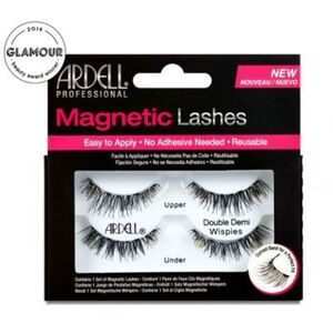 Ardell Magnetic Strip Lashes - Magnetic Double Demi Wispies - Iconic Wispie Style With Extra Length & Volume (1564)