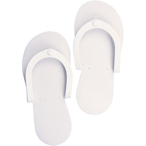 Disposbale Pedi Slippers - White 12 Pack (3525)