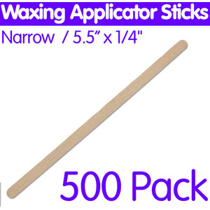 "Waxing Applicator Sticks - Narrow - 4.5"" x 38"" 500 Pack (2165)"