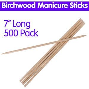 "Birchwood Manicure Sticks - 7""L 500 Pack (2119)"
