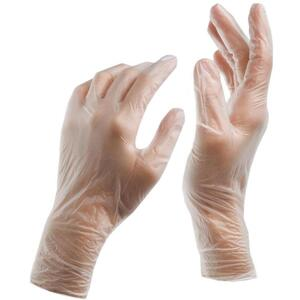 Powder Free Vinyl Gloves - Small 100 Pack (7267)