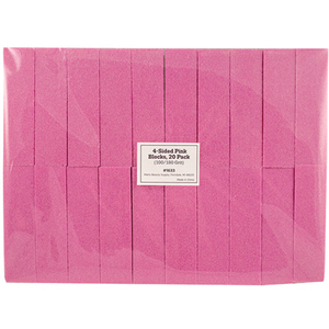 "4-Sided Pink Blocks - 3.74"" x 1"" x 1"" - 180 Grit 20 Pack (1633)"