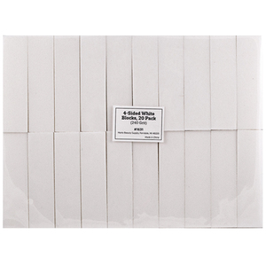 "4-Sided White Blocks - 3.74"" x 1"" x 1"" - 180 Grit 20 Pack (1631)"