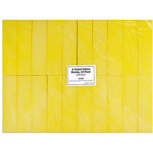 "4-Sided Yellow Blocks - 3.74"" x 1"" x 1"" - 240 Grit 20 Pack (1321)"