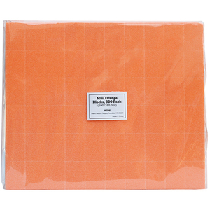 "Disposable Mini Blocks - Orange - 100180 Grit - 1.4"" x 1"" x 12"" 300 Pack (1116)"