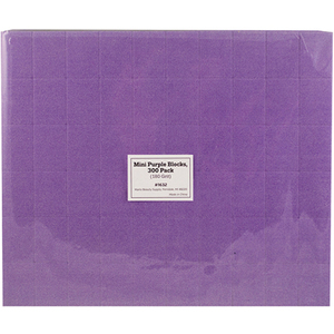 "Disposable Mini Blocks - Purple - 180 Grit - 1.4"" x 1"" x 12"" 300 Pack (1632)"