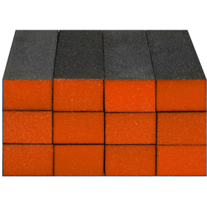 "Sanitizable Sanding Blocks - Orange - FineMedium Grit - 1-38""H x 1""W x 3-34""L 12 Pack (4927)"