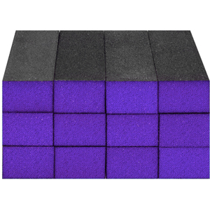 "Sanitizable Sanding Blocks - Purple - MediumCoarse Grit - 1-38""H x 1""W x 3-34""L 12 Pack (4928)"