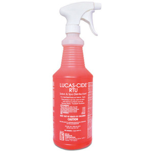 Lucas-Cide Ready To Use Salon & Spa Sanitizer Disinfectant - Fungicide + Bactericide + Virucide + Disinfectant - Effective gainst COVID-19 32 oz. Spray Bottle (3241)