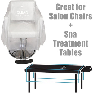 "Disposable Chair Covers - Spa Table Covers - Clear - 71"" x 59"" by Olivia Garden Box of 25 (5136)"