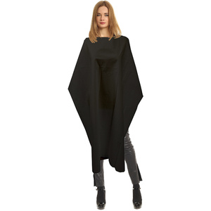 "Single Use Disposable Black Salon Capes - Poly-Backed Tissue - 45"" x 54"" Case of 50 (5193)"
