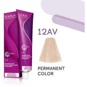 Kadus Professional Permanent Hair Color - 12AV High Lift Blonde Ash Violet 2 oz. (4631)