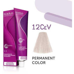 Kadus Professional Permanent Hair Color - 12CeV High Lift Cendre Violet 2 oz. (4630)
