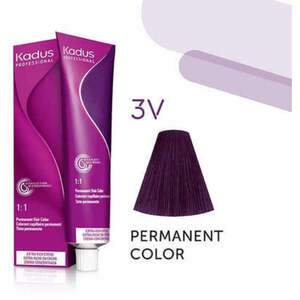 Kadus Professional Permanent Hair Color - 3V Dark Brunette Violet 2 oz. (7903)