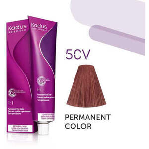 Kadus Professional Permanent Hair Color - 5CV Light Brunette Copper Violet 2 oz. (7909)